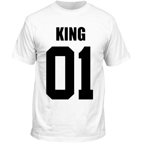T-Shirt Couple King 01 Blanc Homme