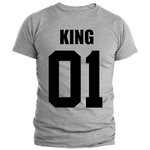 T-Shirt Couple King 01 Gris Homme