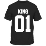T-Shirt Couple King 01 Noir Homme