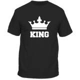 T-Shirt Couple King Couronne Noir