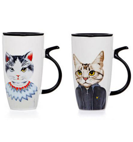 Mugs Couple assortis chats dessins