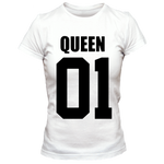 T-Shirt Couple Queen 01 Blanc Femme