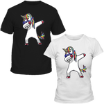 T-Shirts Couple Licorne DAB