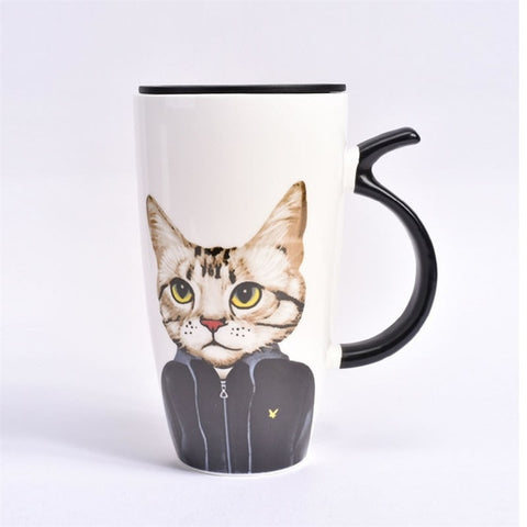 Mugs Couple homme Chat dessin
