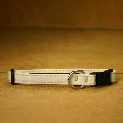 Toy Dog Collar Natural