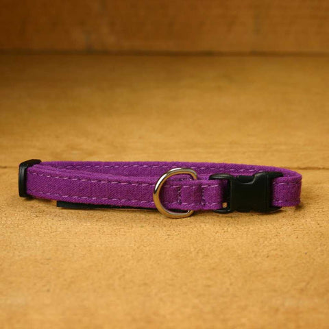 Toy Dog Collar Plum