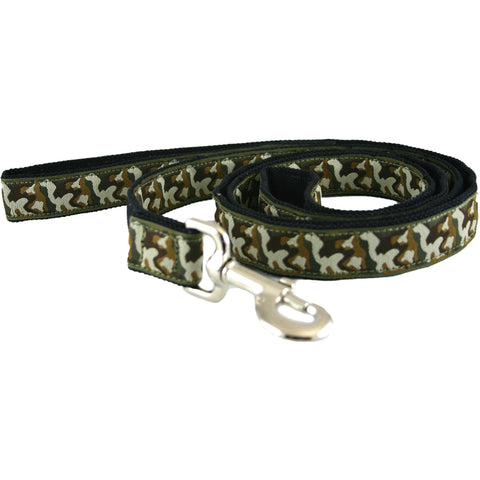 Hemp Dog Leash Camo Canvas