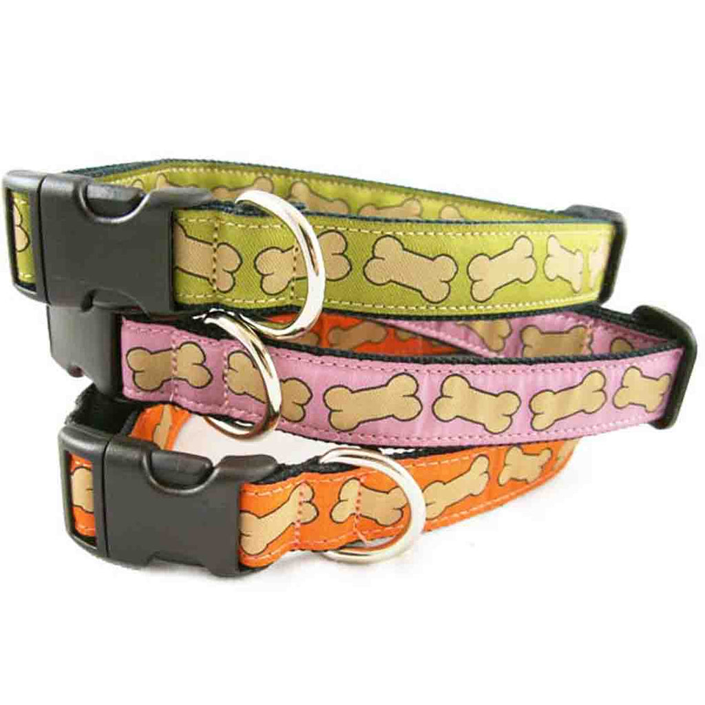 Hemp Dog Collar Bones Collection