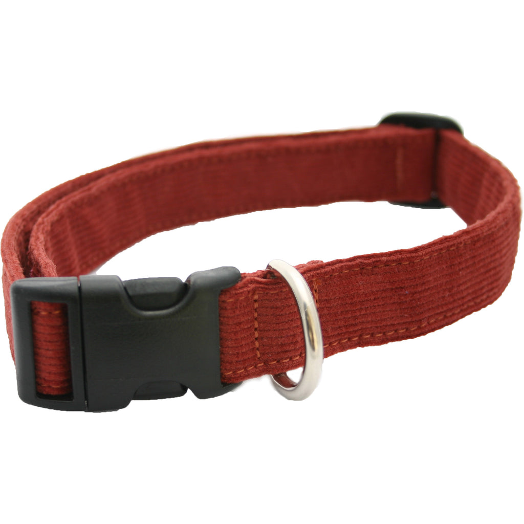 Hemp Corduroy Dog Collar Rust