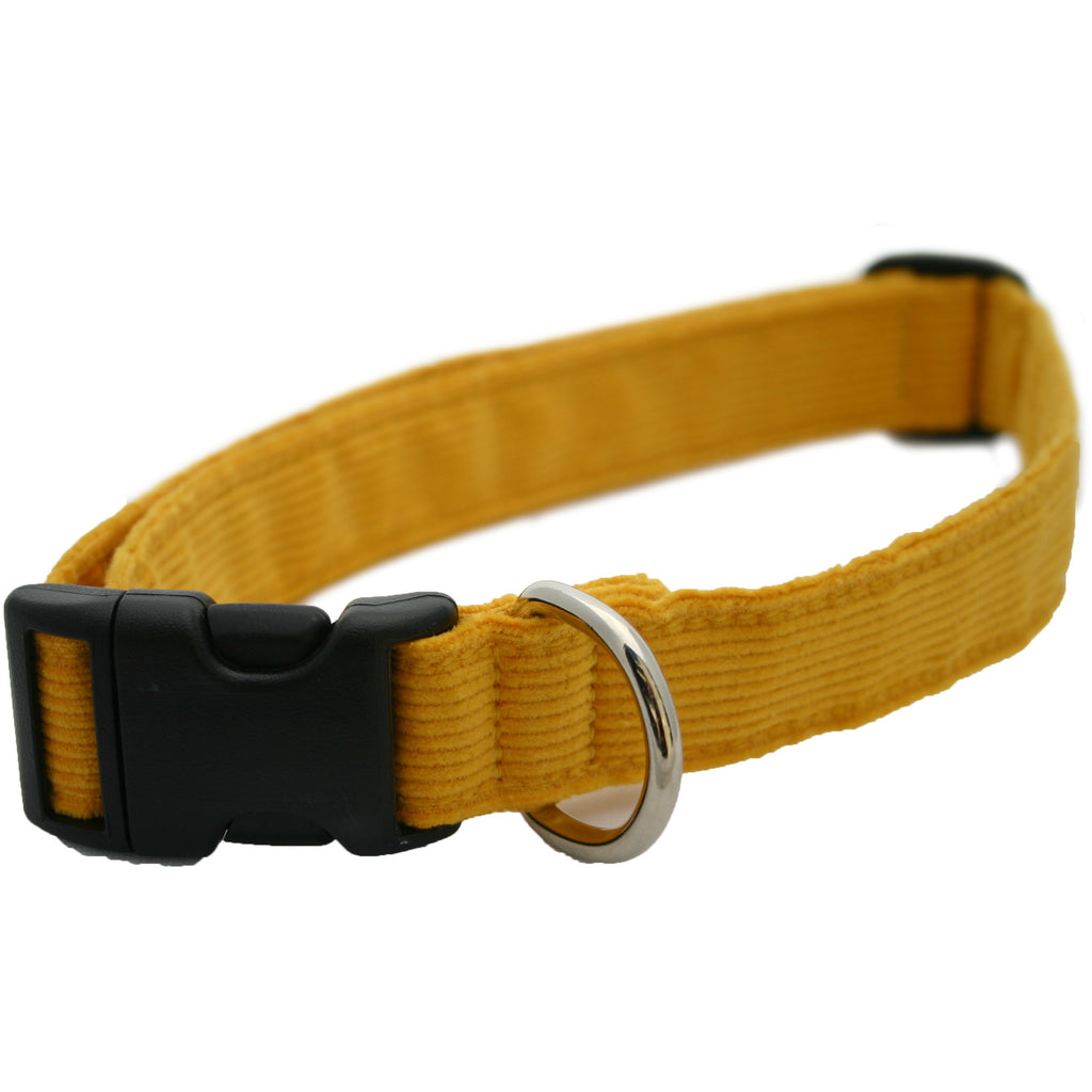 Hemp Corduroy Dog Collar Marigold