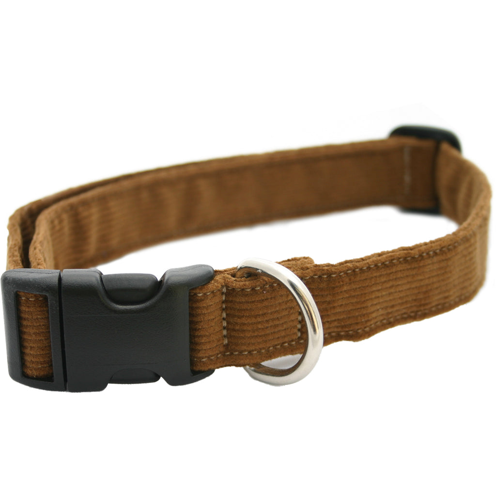 Hemp Corduroy Dog Collar Bronze