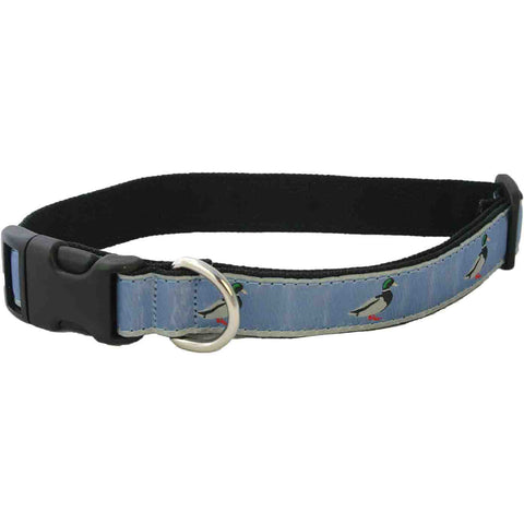 Hemp Dog Collar Slate Blue Collar