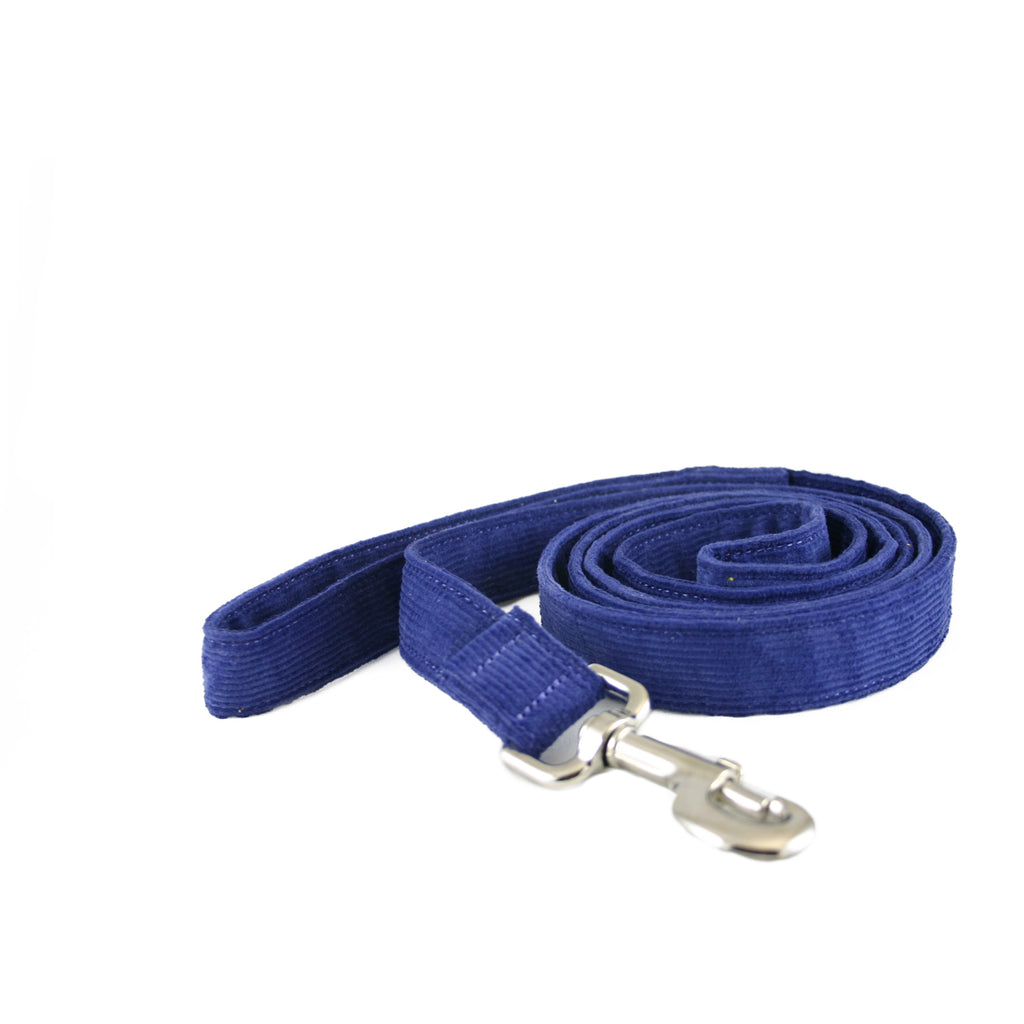 Hemp Corduroy 6' Dog Leash Blue