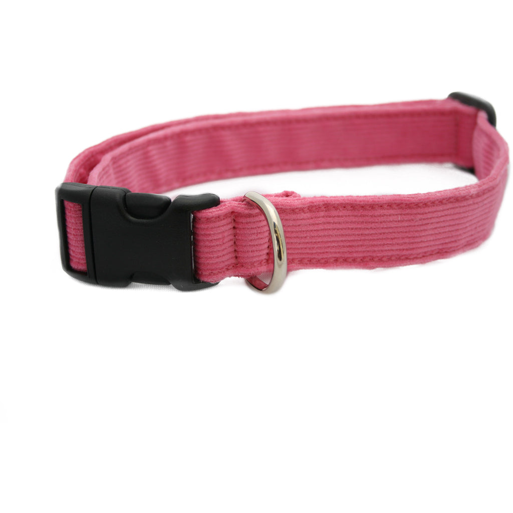 Hemp Corduroy Dog Collar Pink