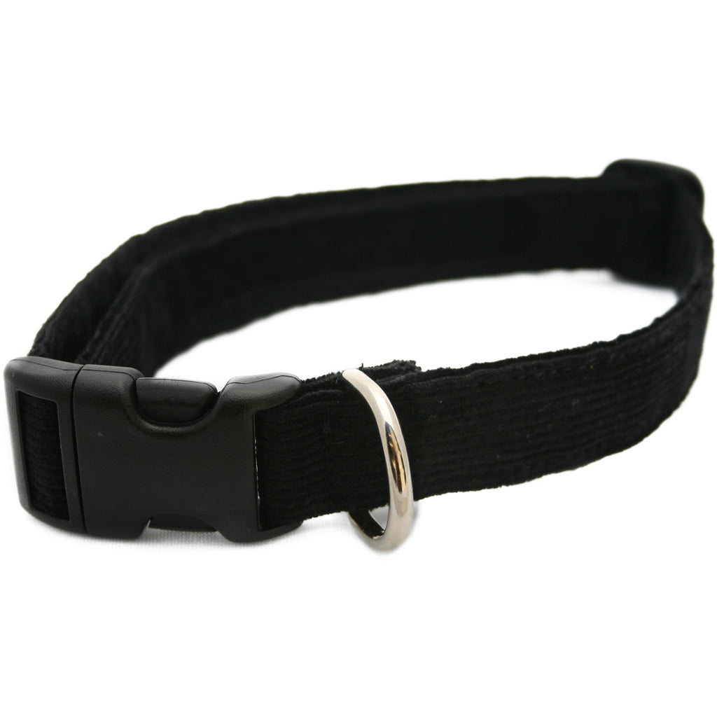Hemp Corduroy Dog Collar Black