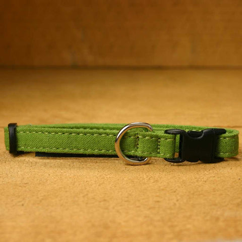 Hemp Toy Dog collar Avocado
