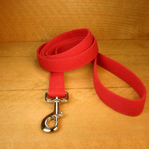 Basic Red Hemp Canvas 6 Foot Leash