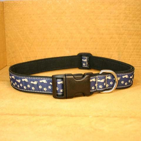 Best Friend Blue Hemp Canvas Ribbon Collar | The Good Dog Company