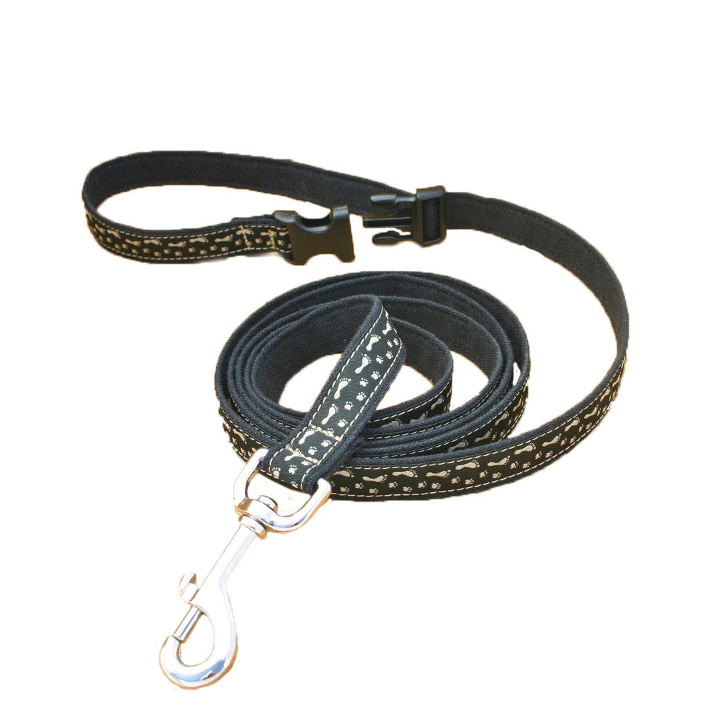 Hemp BFF Black ClickNGo Leash