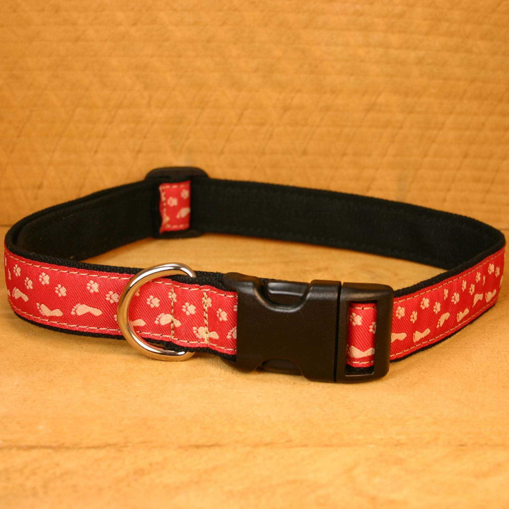 Hemp Dog Collar BFF Red