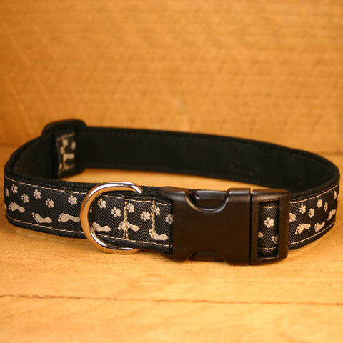 Best Friend Black Hemp Canvas Ribbon Collar