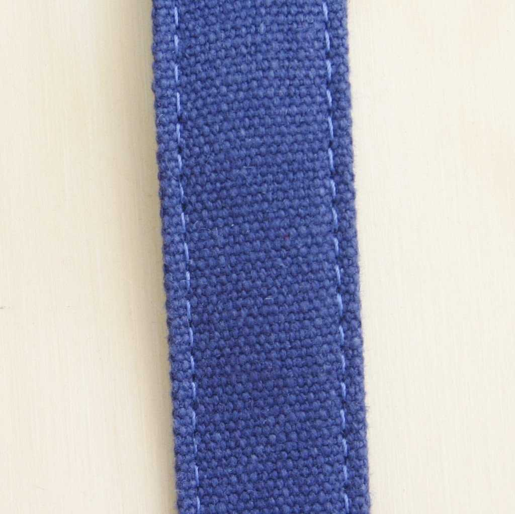 Hemp Dog Leash basic blue fabric swatch