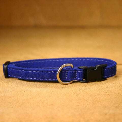 Hemp Toy Dog Collar Blue