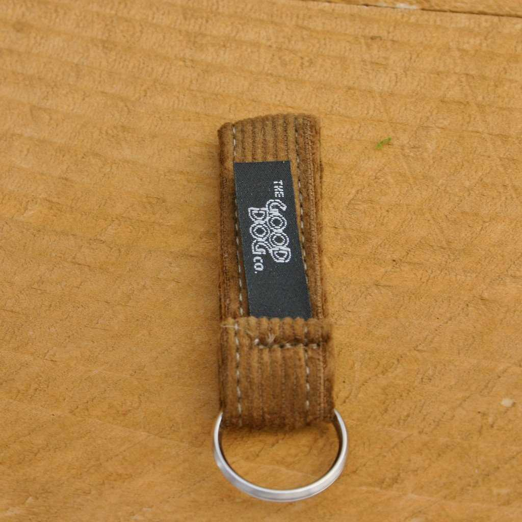 Hemp Key Chain Bronze Corduroy
