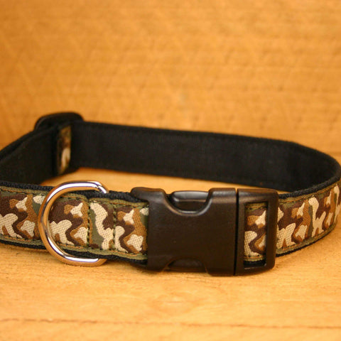 Camo Hemp Canvas Ribbon Collar