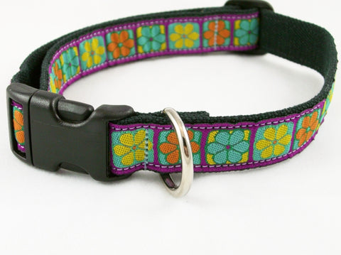 Hemp Dog Collar Flowerama