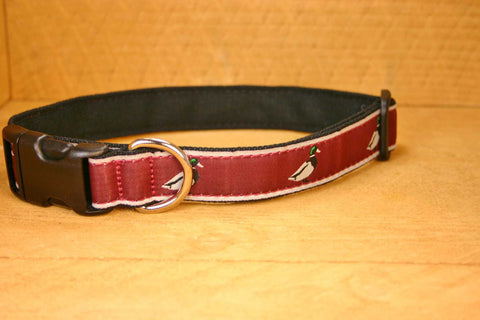 Crimson Mallard Hemp Conservation Canvas  Ribbon Collar