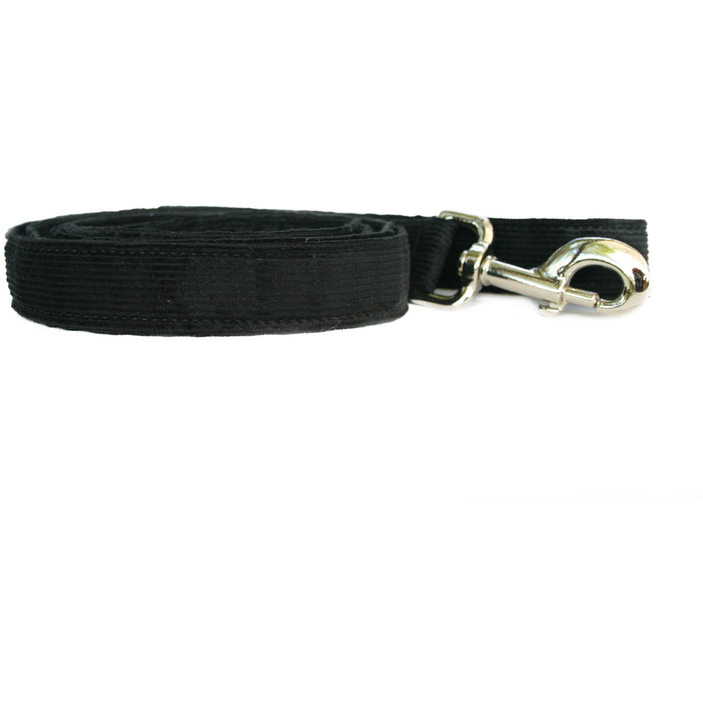 Hemp Dog 6' Leash Black Corduroy