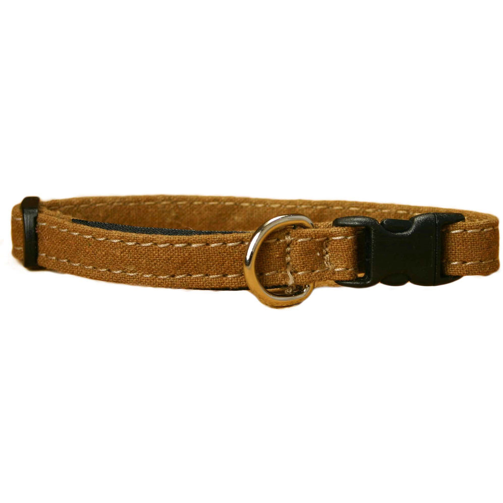 Hemp Cat Collar Bronze