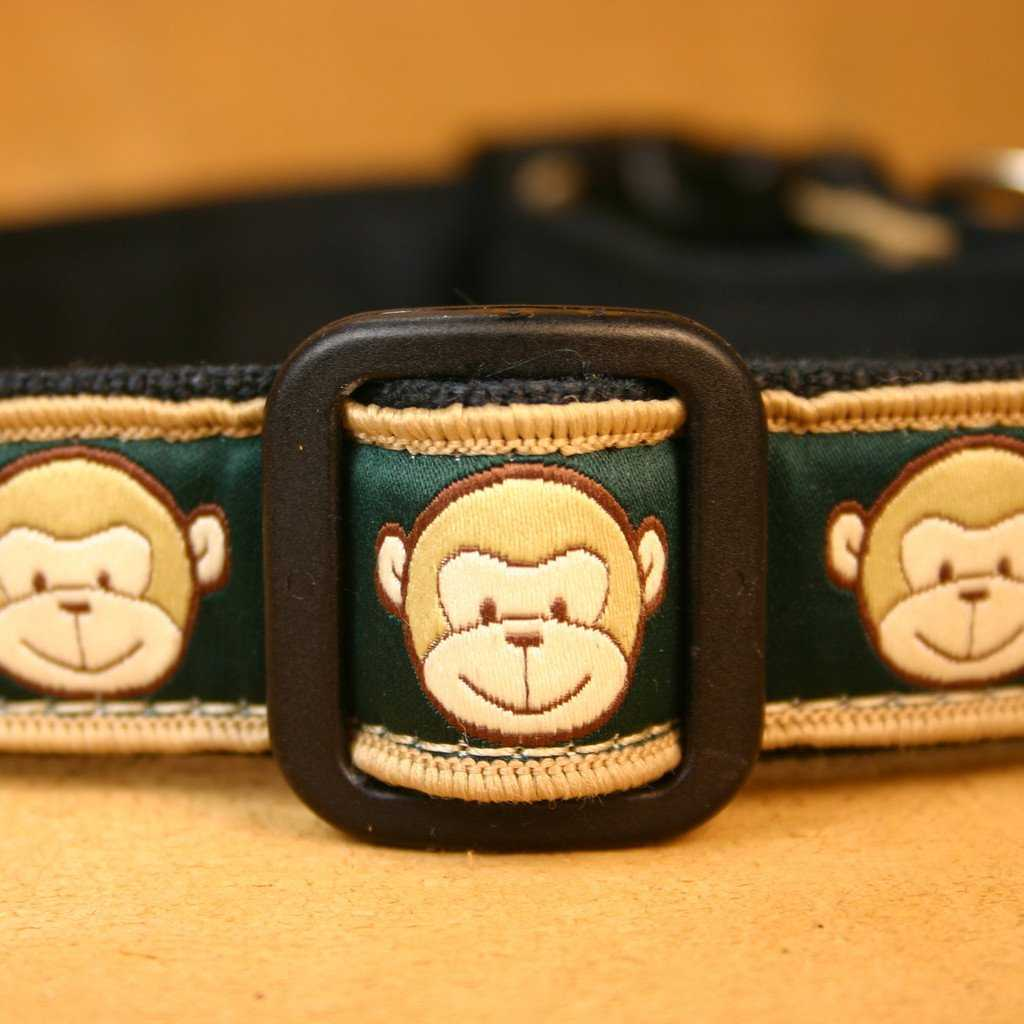 Hemp Dog Collar Emerald Monkey