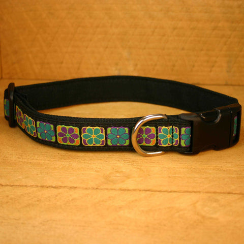 Flowerama Hemp Canvas Ribbon Collar | The Good Dog Company