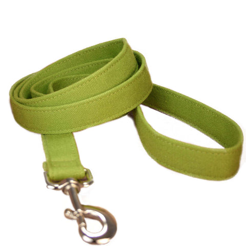 Hemp Dog Leash 6'Green Basic Canvas