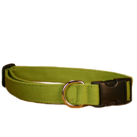 Hemp Dog Collar Green Basic