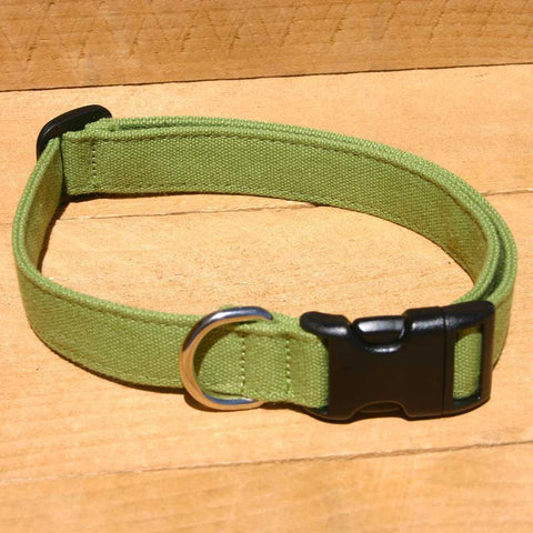 Hemp Basic Green Collar | The Good Dog Company