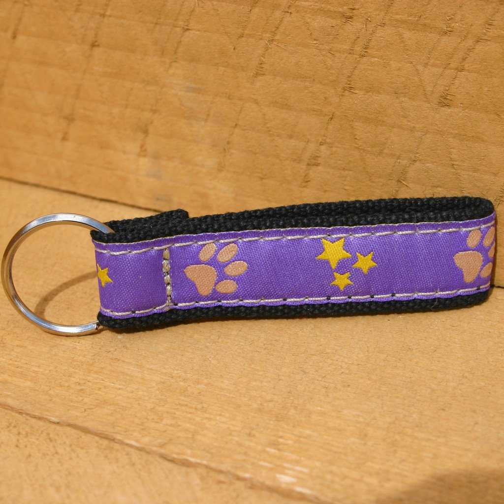 Hemp Key Chain Paws and Stars