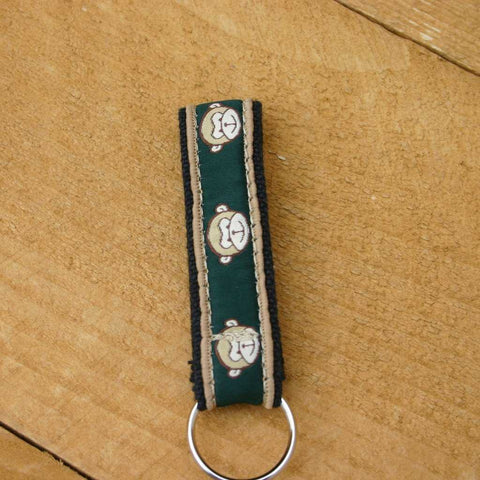 Hemp Key Chain Emerald Monkey