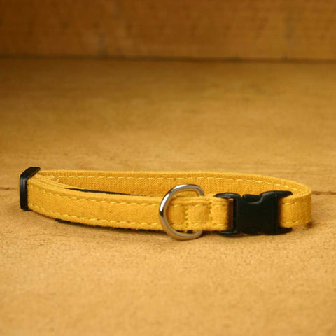 Hemp Toy Dog Collar Marigold