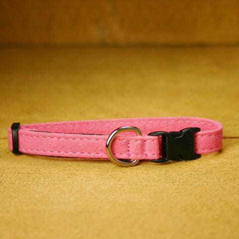 Hemp Toy Dog Collar Pink