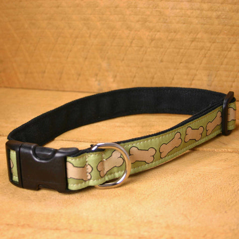 Hemp Dog Collar Pistachio Bones