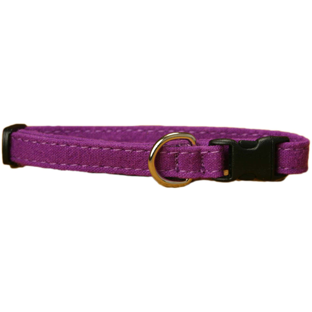 Hemp Cat Collar Plum