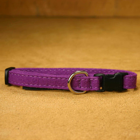 Cat Collar Plum Hemp