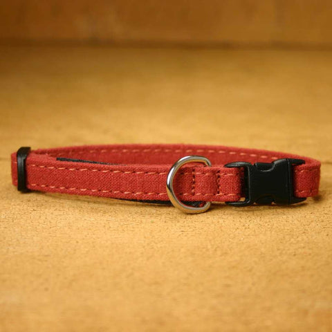 Hemp Toy Dog Collar Rust
