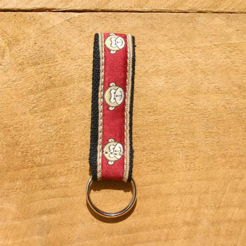 Hemp Key Chain Garnet Monkey