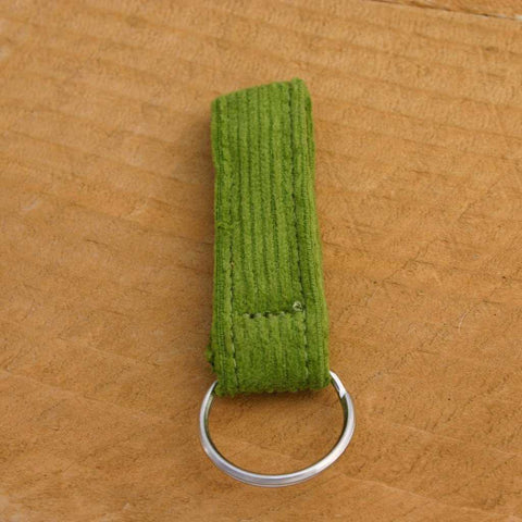 Hemp Key Chain Avocado Corduroy
