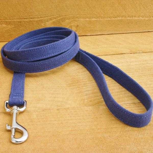 Hemp Dog Leash Basic Blue