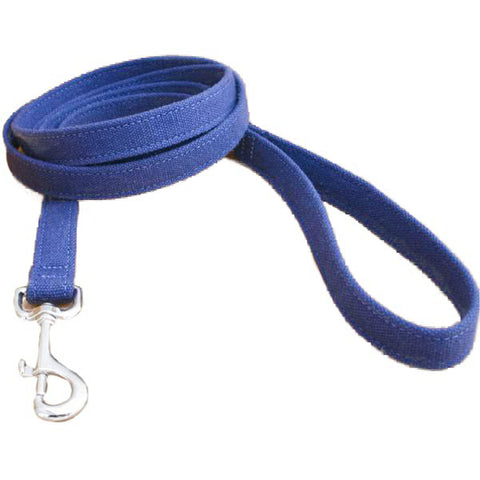 Hemp Dog Leash basic blue white background